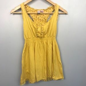 Love on a Hanger Yellow Tank Top with Buttons